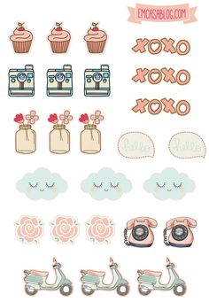 Retro stickers! Download for free! Leave a comment if you want more!
