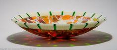 """Orange Crush"" by Steve Immerman Fused Glass Bowl, Glass Bowls, Bullseye Glass, Glass Artwork, Orange Crush, Serving Bowls, Decorative Bowls, Crushes, Archive"