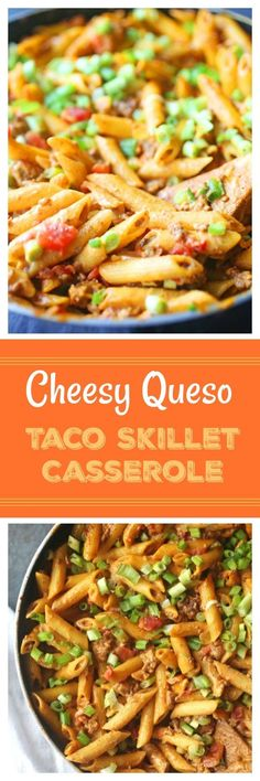 The Highest Three Chicory Espresso Manufacturers - Include A Novel Taste On Your Cup Of Joe This Cheesy Queso Taco Skillet Casserole Recipe Is The Perfect Recipe That Will Feed A Family. Made With Queso Cheese, Tomatoes, Ground Beef, And Green Onions. Cheesy Recipes, Easy Pasta Recipes, Easy Dinner Recipes, Mexican Food Recipes, Beef Recipes, Easy Meals, Cooking Recipes, Weeknight Meals, Dinner Ideas