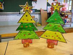 simple Christmas trees craft