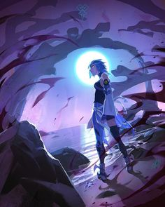 Aqua by Toni Infante Final Fantasy, Fantasy Art, Ps Wallpaper, Kingdom Hearts Fanart, Kindom Hearts, Comic Book Artists, Freelance Illustrator, Character Design, Character Reference