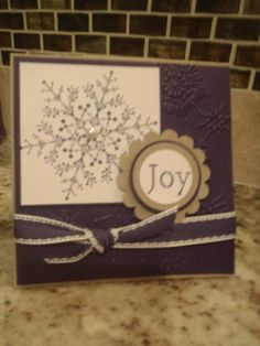 Joy of Snow by stampinlyndsey - Cards and Paper Crafts at Splitcoaststampers