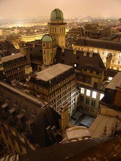 roofs of the Sorbonne University, Latin Quarter, Paris
