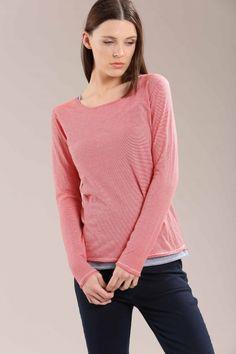 Stripe sweater Spring Summer 2015, Pullover, Sweaters, Fashion, Fashion Styles, Spring Summer, Tops, Stripes, Moda