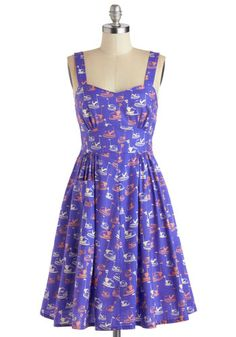 This dress... HAS BUMPER CARS ON IT.  I have never seen a more perfect novelty print, and it's the perfect fit-and-flare shape.  Killing me!