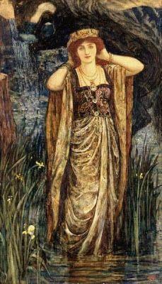 Pre Raphaelite Art: H J Ford - Guinevere