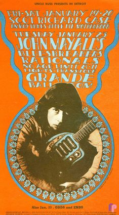 Classic Poster - Scot Richard Case at Grande Ballroom 1/19, 20 & 23/68 by Gary Grimshaw