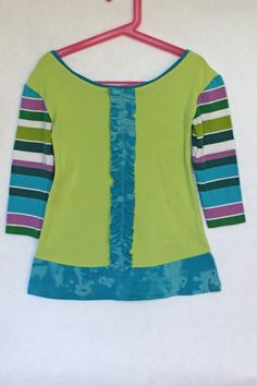 Lime Green Upcycled T Shirt Dress 3T by TwoSweetMamas on Etsy, $35.00