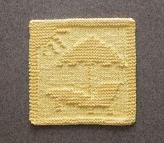 Sunny BEACH Knit Dishcloth Original Hand by AuntSusansCloset, $6.50