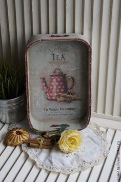 """Кухня ручной работы. Ярмарка Мастеров - ручная работа поднос """"VICTORIA TEA"""". Handmade."""