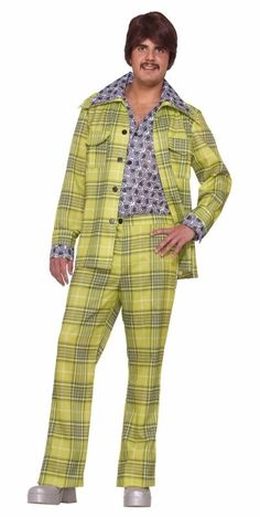 70's Leisure Suit (Yellow Plaid)