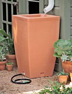 Santa Fe, 47 Gallon Rain Barrel | Buy from Gardeners Supply