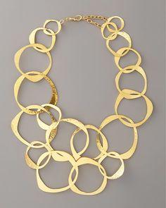 Herve Van Der Straeten Circle-Link Bib Necklace on shopstyle.com