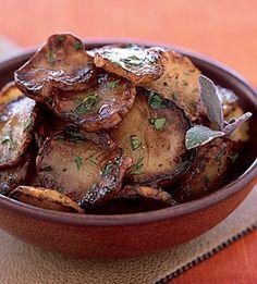 Jerusalem artichokes         Pan-Fried Jerusalem Artichokes in Sage Butter Recipe  at Epicurious.com