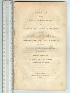 Life of Lafayette by John Quincy Adams