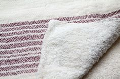 Flax Line Organics Towel, Maroon-Ivory