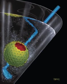 Martini - Titled: Golf Martini