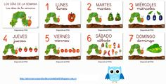 Días de la semana/Dies de la setmana/Days of the week - La pequeña oruga glotona / La petita eruga golafre/The very hungry caterpillar