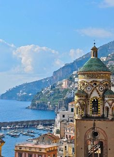 Amalfi, Italy Some day.I will visit the Amalfi Coast! Amalfi Coast, Amalfi Italy, Sorrento Italy, Places Around The World, Oh The Places You'll Go, Places To Travel, Places To Visit, Dream Vacations, Vacation Spots