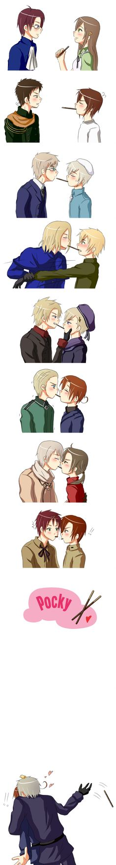 "I love Prussia at the end. He's just like: ""F**k the pocky c'mere."""