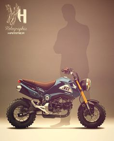 These Groms look like so much fun! Honda Grom 125 by Holographic Hammer.