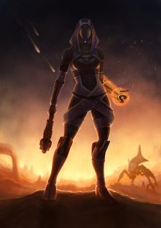 Tali'Zorah on Rannoch by Sathynae.deviantart.com on @DeviantArt