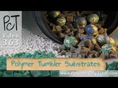 Polymer Clay Rock Tumblers - Plastic Polishing Substrate Video #363: In this video Ill demonstrate how to use a pyramid shaped plastic polishing substrate that works really well in rock tumblers for polishing your polymer clay beads. More...  - Small round beads can be a big pain to sand by hand, so a rock polisher can help out by  polishing your beads while you do something else... like make more be...