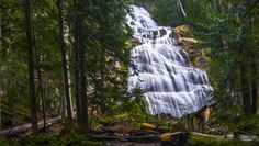 deep forest waterfall - These falls are only about a mile hike in are in the middle of a forest on a mountainside. Up close they look like a bridal veil Landscape Photography, Travel Photography, Forest Waterfall, Deep Forest, Photos Of The Week, Tourism, Vacation, Bridal, World