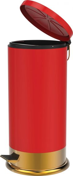 """This realistic looking steel Shotgun Shell Trashcan stands an impressive 25.5"""" tall. Includes a foot operated opening lid and a removable plastic inner can for easy emptying. This is the perfect tras"""