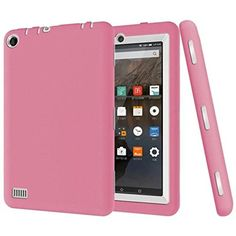 Fheaven Kid Rugged Shockproof Protective Cover Case for Amazon Kindle Fire 7 2015 Tablet (pink) * Want additional info? Click on the image. (This is an affiliate link) #ToolsAccessories