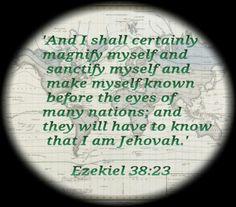 Image result for Ezekiel 38:23 image