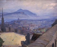 View of Edinburgh from the Castle by Sir John Lavery (1856-1941)