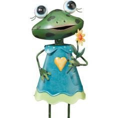 Frog Girl Garden Stake by Regal Art & Gift. Save 33 Off!. $22.24. Special Painting Techniques Creates A 'Patina' Effect.. Extensive Handcrafting Is Put Into Each Piece.. Mix And Match Items In Same Or Different Themes.. Use Of Richly Colored Automobile Paint Creates Quality, Durable Finish.. REGAL10005 Features: -Made of thick gage metal with 8-12 layers of automotive paint.-Powder coated for durability. Dimensions: -Dimensions: 5'' H x 3.75'' W x 18.5'' D. Collection: -Small collection.