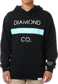 Diamond Supply Bar Logo Black Pullover Hoodie at Zumiez : PDP