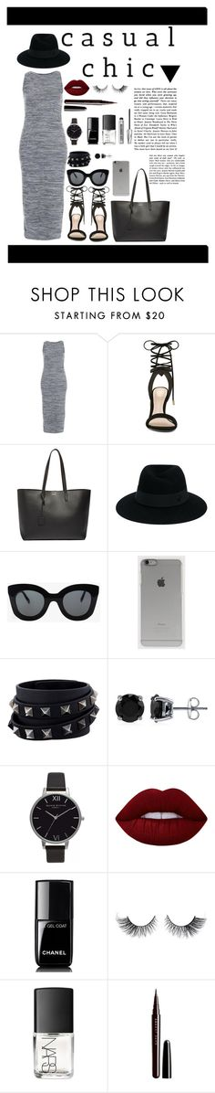 """Casual Chic #2"" by mary03l on Polyvore featuring Topshop, ALDO, Yves Saint Laurent, Maison Michel, CÉLINE, Incase, Valentino, BERRICLE, Olivia Burton and Lime Crime"