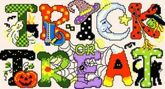 Trick or Treat Cross Stitch Pattern halloween