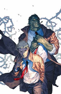 John Constantine and Swamp Thing