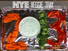"Mine for the Making: Food-a-licious Friday {103} NYE Veggie Tray  Kara, who has sooo many great ideas has done it again.  This would also be good for a ""special"" birthday or event"