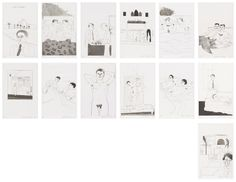 DAVID HOCKNEY Illustrations for Fourteen Poems by C.P. Cavafy, 1966/67, http://www.phillips.com/detail/DAVID-HOCKNEY/UK030213/8