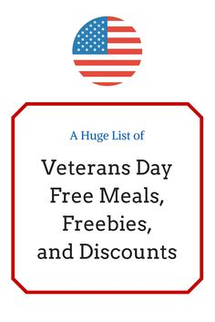 Free meal deals veterans day