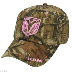 Camo and pink dodge hat