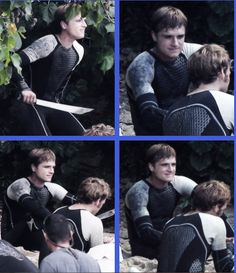 "Peeta on the beach. With Finnick. I cant wait. To quote my sister, i am making ""inhuman noises""."