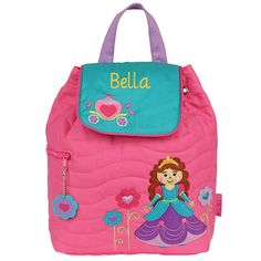 Personalized Stephen Joseph Princess Quilted Backpack with Embroidered Name *** Details can be found by clicking on the image. (This is an Amazon Affiliate link and I receive a commission for the sales)