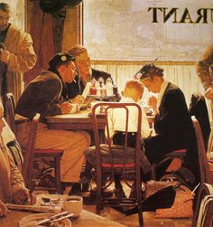1951--Saying Grace -Norman Rockwell
