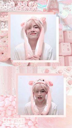 freetoedit v taehyung kimtaehyung bts pink cute. Taehyung Selca, Taehyung Cute, Bts Jungkook, Wallpapers Kawaii, Kpop Wallpapers, Pink Wallpaper, Galaxy Wallpaper, Bts Wallpaper, Bts Aesthetic Wallpaper For Phone