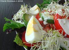 Mia's Domain   Real Food: Avocado Egg Tomato Salad with Parmesan Vinaigrette