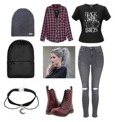 """Winter/Fall"" by infiniteghost on Polyvore featuring Topshop, Dr. Martens, Rails, Neff and Rains"
