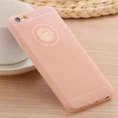Elegant Fresh Silicon Rhinestone Accent Pastel Color Powder Matte Colors Soft Cellphone Cover for iPhone 5 5S 5G - 5 Colors