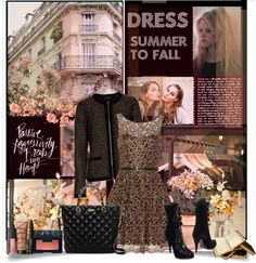 """""""Summer to Fall: Dress"""" by nancy-ellyn ❤ liked on Polyvore"""