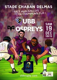 UBB - Ospreys, Champions Cup, samedi 19 décembre, 18h15